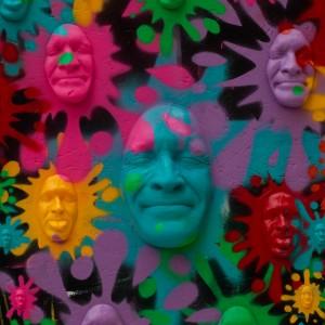 le smiley de Gregos lors de la première journée de la Garden P(arty) organisée par Montpellier Loves Street Art