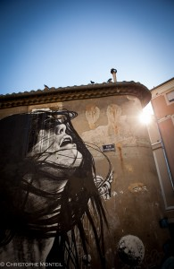 Dire, fresque à l'Expo de Ouf, Nîmes 2015 (street art)