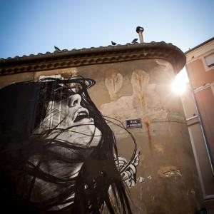 Dire 132 à expo de ouf ! 2015, une exposition permanente d'oeuvres de street art dans les rues de Nîmes