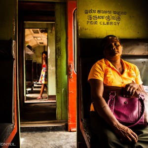 Woman travelling from Trincomalee to Batticaloa, in a third class wagon