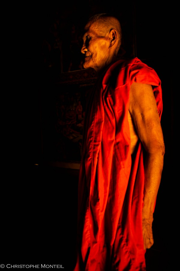 monk in the Kep area, Cambodia