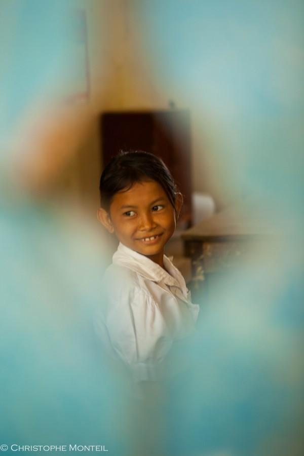 schoolgirl, Kep area, Cambodia