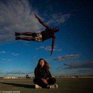 christophe monteil, Ibrahim Bangoura - tricking à Montpellier, France - street - dance - parkour