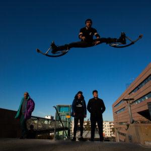 Yohann, jump en échasses urbaines, Montpellier, France, christophe monteil, cultures urbaines