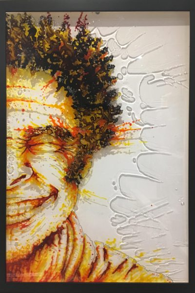 paint on plexiglass, 50x75, Christophe monteil, Kriss, Montpellier, France