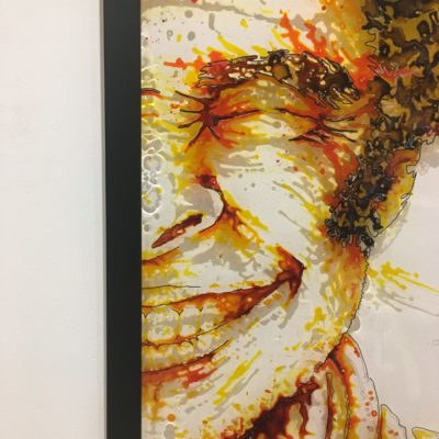 paint on plexiglass, 50x75, Christophe monteil, Kriss, Montpellier, France