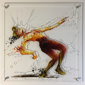 Lil Buck style , diptyque - dancer paint on plexi, tribute to Lil Buck