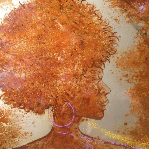 seawater on metal, montpellier, artist, art on metal, paint