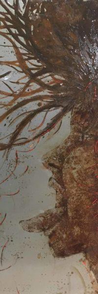 paint from saltwater, rust on steel. Jump, christophe monteil, kriss, mediterranea