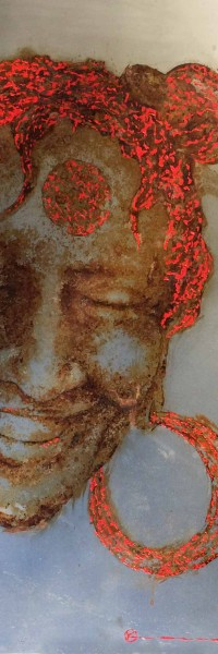 paint and saltwater that rust on steel. Jump, christophe monteil, kriss, mediterranea