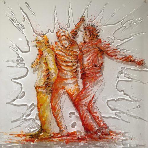 paint on plexi, 50x50, hip-hop, painting , christophe monteil
