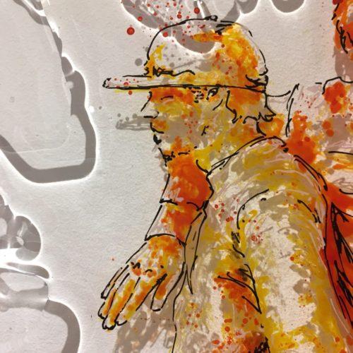 paint on plexi, 50x50, Christophe Monteil, art on plexi