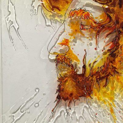 Paint on plexi, christophe monteil, kriss, art, india, pushkar